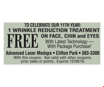 free. 1 wrinkle reduction treatment
