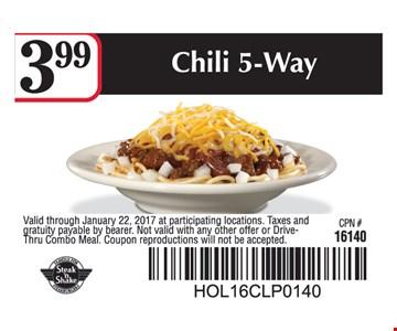 $3.99 Chili 5-Way