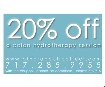 20% off a colon hydrotherapy session