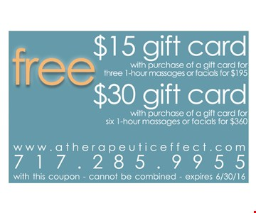 Free $15 or $30 gift card
