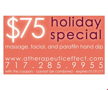 $75 holiday special