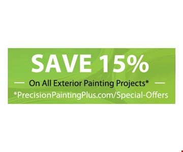Save 15% on all exterior painting projects