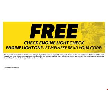 free check engine light check