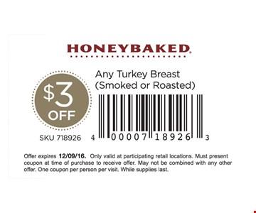 $3 off any turkey breast