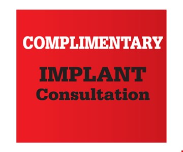 Complimentary implant consultation