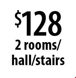 $128 2 rooms/hall/stairs. Offers expires 2-28-17.