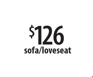 $126 sofa/loveseat. Offers expires 2-28-17.