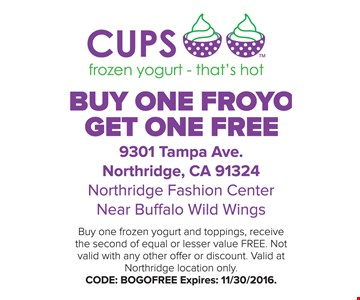 Buy One Froyo Get One Free