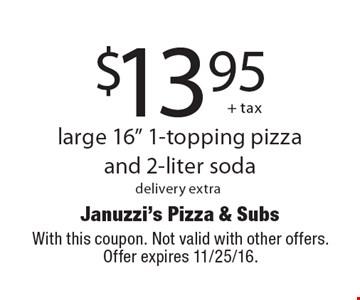 $13.95 + tax large 16