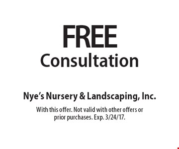 Free Consultation. With this offer. Not valid with other offers or prior purchases. Exp. 3/24/17.