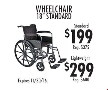 $199 standard wheelchair 18