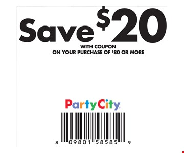save $20 on $80 or more