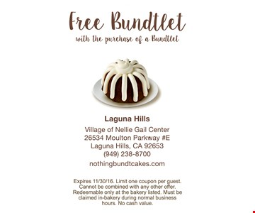 Free Bundtlet with purchase