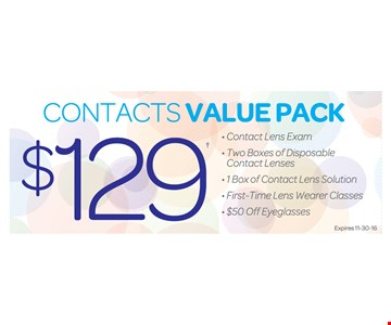 Contacts Value Pack $129