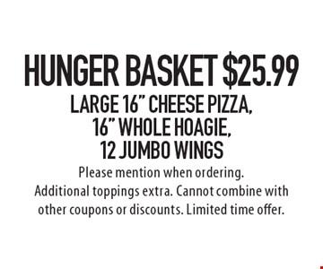 Hunger Basket! $25.99 Large 16