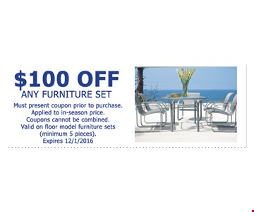 $100 off any furniture set