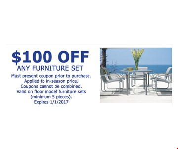 $100 off any furniture set