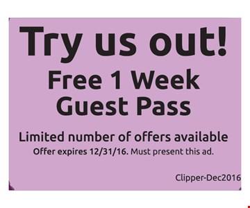 Free 1 week guest pass