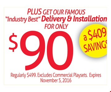 Save $409 on Delivery & Installation