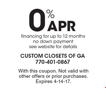 40% off custom garage, cabinets or storage orders of $1250 or more. If you can find a better price for a comparable product and design, we will not only match their price, we'll reduce our price by an additional 10% GUARANTEED! With this coupon. Not valid with other offers or prior purchases. Offer expires 11-4-16.