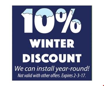 10% winter discount