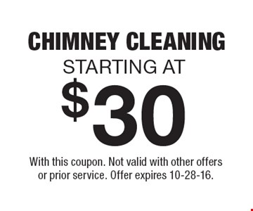 With this coupon. Not valid with other offers or prior service. Offer expires 10-28-16.