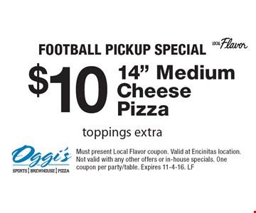 football pickup special $10 14