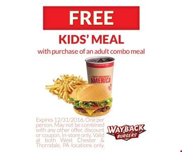 Free kids' meal