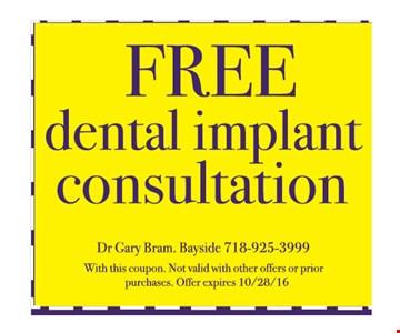 Free implant consultation.