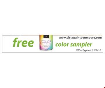 Free color sampler.