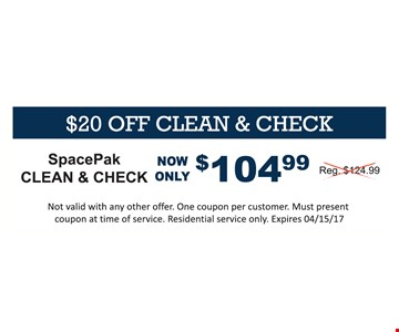 104.99 SpacePak clean & check