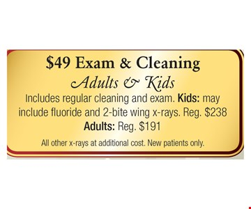 $49 Exam and Cleaning
