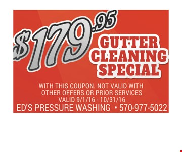 $179.95 gutter cleaning special