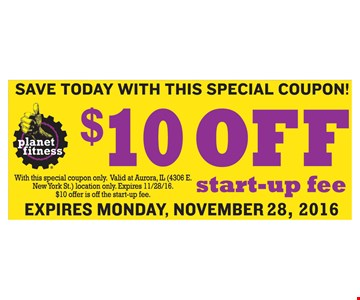 $10 off start-up fee