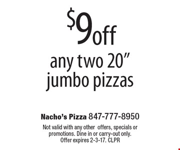 $9 off any two 20
