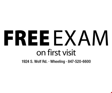 Free Exam on first visit.