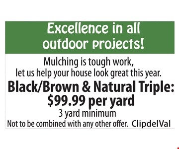 Black/Brown & Nautral Triple $99.99 per yard