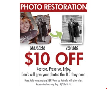 $10 photo restoration.