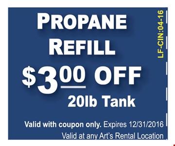 $3 off refill propane
