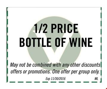 1/2 price bottle of wine