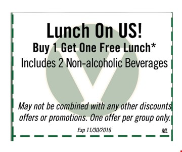 Buy 1 lunch get 1 free