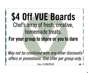 $4 Vue Boards