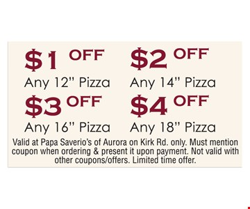 $1 to $4 Off Pizza