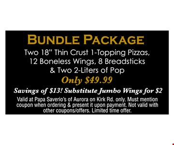 Bundle Package. Two 18