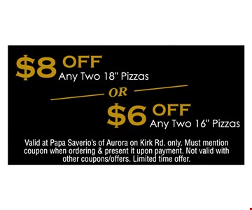 $8 off any two 18