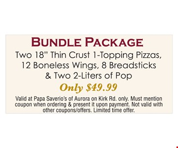 Bundle package $49.99