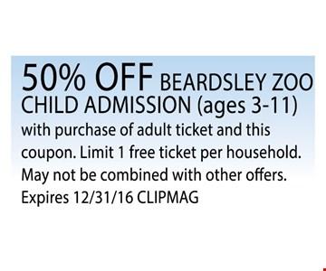 50% off child admission