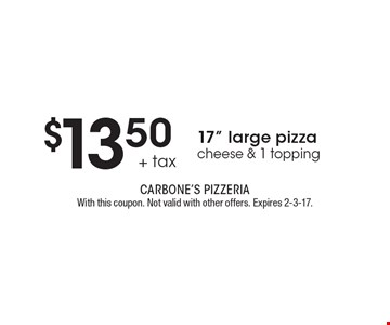 $13.50 + tax 17