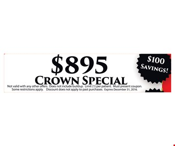 $895 Crown special