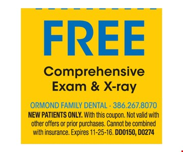 Free comprehensive exam and x-ray